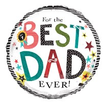 """Best Dad Ever Father's Day 18"""" Foil Balloon"""