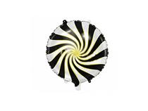 "Black Candy Swirl 14"" Foil Balloon"