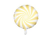 """Light Yellow Candy Swirl 18"""" Foil Balloon"""