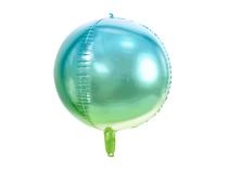 "Ombre Blue & Green Ball 13.8"" Foil Balloon"