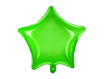 "Neon Green Transparent 18"" Star Foil Balloon"