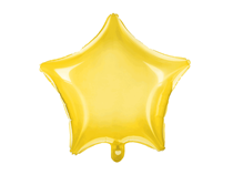 "Neon Yellow Transparent 18"" Star Foil Balloon"