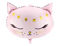 """Pink Cat 19"""" x 14"""" Foil Balloon"""