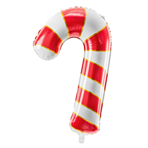 """Christmas Red & White Candy Cane 32"""" Foil Balloon"""