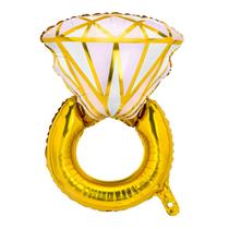 "Gold Diamond Ring 21"" Foil Balloon"