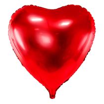 """PartyDeco 28"""" Red Heart Foil Balloon"""