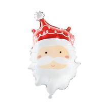 "Christmas Santa Head 24"" Foil Balloon"