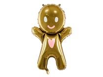 "Christmas Gold Gingerbread Man 34"" Foil Balloon"