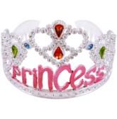Silver Princess Tiaras 12pk