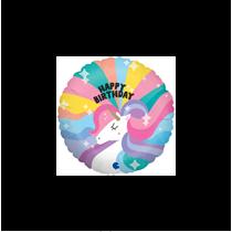"Happy Birthday Unicorn 9"" Mini Foil Balloon"