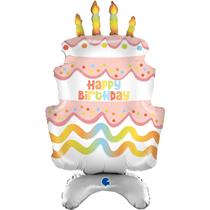 "Standups Birthday Cake 38"" Foil Balloon"
