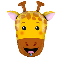 "Giraffe Animal Head 29"" Foil Balloon"