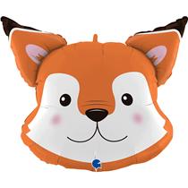 """Smiling Fox Head 30"""" Foil Balloon"""