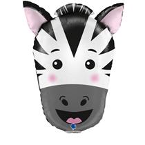 "Zebra Animal Head 29"" Foil Balloon"