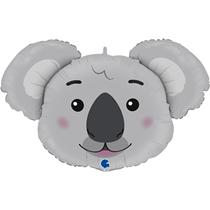"""Smiling Koala Head 37"""" Foil Balloon"""