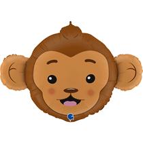 "Smiling Monkey Head 36"" Foil Balloon"