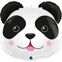 "Smiling Panda Head 29"" Foil Balloon"