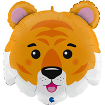 "Tiger Head 28"" Foil Balloon"