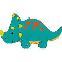 "Triceratops Dinosaur 36"" Foil Balloon"