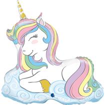 """Macaron Pastel Unicorn 39"""" Foil Balloon"""