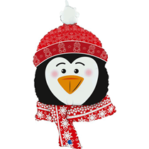 "Christmas Sweet Penguin Head 34"" Foil Balloon"