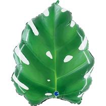 "Shiny Tropical Plant Leaf 23"" Foil Balloon"