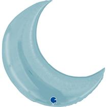 "Pastel Blue 36"" Crescent Moon Foil Balloon"
