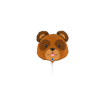 "Bear Animal Head 14"" Mini Shape Foil Balloon"