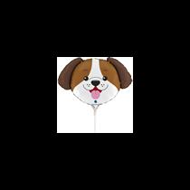 "Dog Animal Head 14"" Mini Shape Foil Balloon"