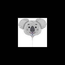 """Koala Animal Head 14"""" Mini Shape Foil Balloon"""