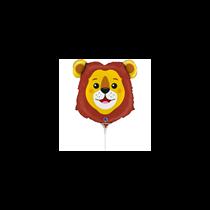 "Lion Animal Head 14"" Mini Shape Foil Balloon"