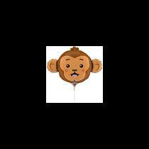 "Monkey Animal Head 14"" Mini Shape Foil Balloon"