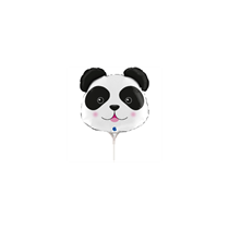 "Panda Animal Head 14"" Mini Shape Foil Balloon"