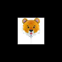 "Tiger Animal Head 14"" Mini Shape Foil Balloon"