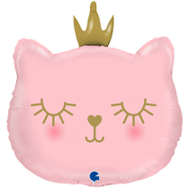 "Pink Princess Cat 26"" Foil Balloon"