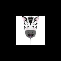 "Zebra Animal Head 14"" Mini Shape Foil Balloon"