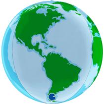 """Earth World 15"""" Globe Foil Balloon"""