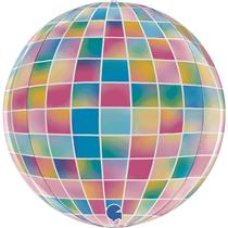 """Disco Ball Strobo 15"""" Globe Foil Balloon"""