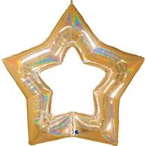 Gold Large Glitter Star Foil Balloon