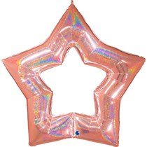 Rose Gold Linky Link Star Large Foil Balloon