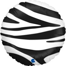 "Grabo Zebra Stripes Animal Print 18"" Foil Balloon"
