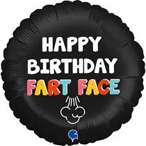 "Happy Birthday Fart Face 18"" Foil Balloon"