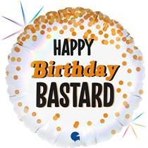 """Happy Birthday B*$tard 18"""" Foil Balloon"""