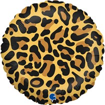 "Grabo Leopard Spots Animal Print 18"" Foil Balloon"
