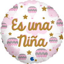 """Es Una Nina Pink 18"""" Foil Balloon"""