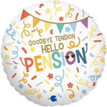 "Hello Pension Retirement 18"" Foil Balloon"