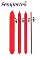 Sempertex Fashion Red Latex Modelling Balloons