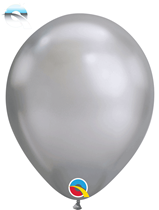 """11"""" Qualatex Chrome Silver Latex Balloons"""