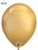 "11"" Qualatex Chrome Gold Latex Balloons"