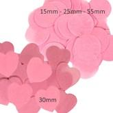 Light Pink Tissue Confetti Disks & Hearts